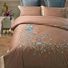 Peacock Feather Comforter Amazon Com Lelv Peacock Print Bedding Set Peacock Design Bedding