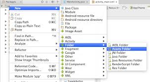create folder on android create assets folder in android studio code2care 2017 2018