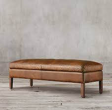 ottoman bench with arms leather ottoman bench