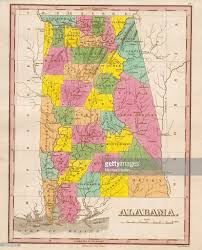 Alabama State Map 1826 Map Of Alabama Pictures Getty Images