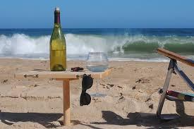 compact folding beach table sandstand portable beach table
