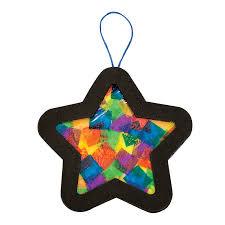 tissue paper star christmas ornament craft kit paper stars