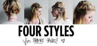 four styles for short hair u2013 a beautiful mess