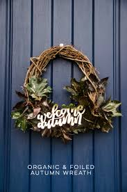 autumn wreath welcome autumn wreath lemon thistle