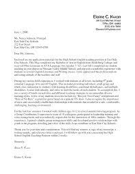 Resume Samples Letters by Application Letter Example For Teaching Job Sample Cover Letter