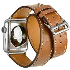 double strap bracelet images Valkit for apple watch band 38mm iwatch bands genuine leather jpg