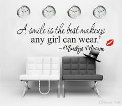 a simile is the best makeup any girl can wear marilyn monroe high quality self adhesive matte vinyl stickers with little cost or effort you can decorate your home without the trouble or expense of painting