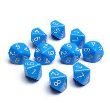 jeujeujeu de cuisine 10pcs set multi 10 d10 rpg sac d d jeu jeu jeu dés bleu