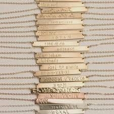 Name Bar Necklace Gold Gold Name Plates Necklaces Elegant K Gold Nameplate Necklace