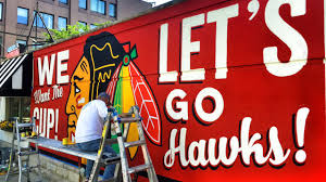 right way signs of chicago on vimeo chicago blackhawks wall mural 2015 stanley cup sign painting