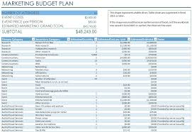 8 best images of budget plan excel marketing budget template
