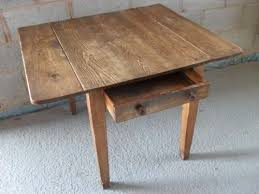 Rustic Old Pine Twin Flap Kitchen Table With Drawer - Old pine kitchen table