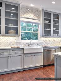 White Kitchen Tile Backsplash Ba311526 Arabesque Ceramic Backsplash Kitchen For