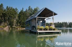 floating houses a tiny 240 square foot floating house in maine