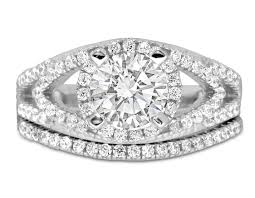 designer diamond sets designer 2 carat diamond wedding ring set in white gold