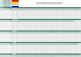 Tracking Sheet Excel Template 2012 Employee Vacation Tracking