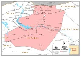 Syria On World Map by Declared Area U2014al Raqqa Province Syria Australian National Security