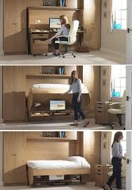 Folding Bed Desk Bed Desk Combos Save Space And Add Interest To Small Rooms Small