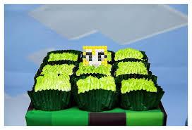 minecraft cupcake ideas kara s party ideas grass square cupcakes from a minecraft birthday