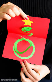 spiral christmas tree spiral christmas tree card easy peasy and