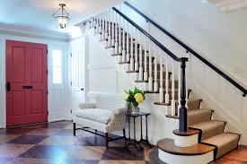 Two Tone Walls With Chair Rail Front Hall Decorating Ideas Entry Traditional With Wood Grain