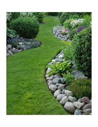 River Rock Garden by Boulders U0026 River Rock A3 Grass And Stone