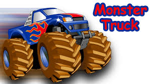 monster truck cartoon videos police monster truck stunts for kids monster truck washing
