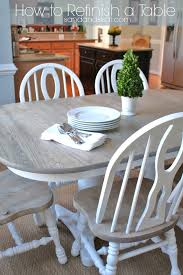 Light Oak Kitchen Table And Chairs - how to refinish a table sand and sisal