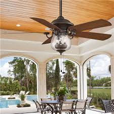 Outdoor Ceiling Fan And Light Indoor Outdoor Cloche Glass Ceiling Fan Ceiling Fans Indoor