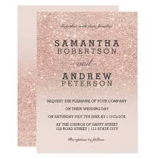 wedding invitations glitter gold faux glitter pink ombre wedding card zazzle