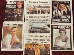 photos looking back at the funeral and mourning of princess diana