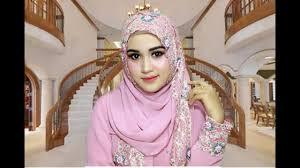 tutorial make up wardah untuk pesta tutorial make up one brand wardah dan hijab pesta mewah youtube