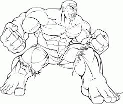 drawing hulk coloring