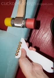 Tack Upholstery Diy Headboard Tutorial With Individual Brass Nails Cuckoo4design