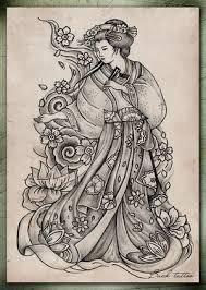 best tatto design japanese geisha tattoo designs