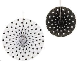 black and white paper fans wedding ideas