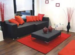 Red And Black Sofa by Red And Black Living Room Ideas Safarihomedecor Com