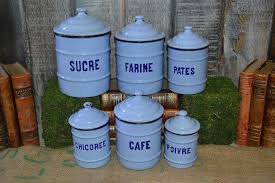 enamel kitchen canisters canisters interesting french kitchen canisters white french
