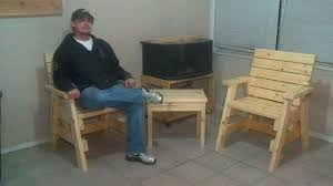 how to build 2 outdoor arm chairs and a side table jays custom