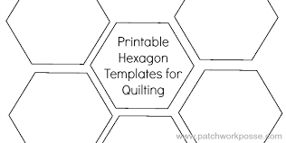 Quilting Hexagon Template printable hexagon template for quilting pdf