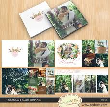 12x12 wedding album wedding album template wreath white wedding album template 12x12