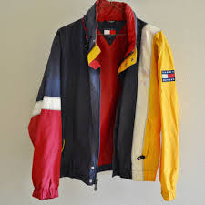 design clothes etsy red yellow blue white tommy hilfiger from tabayvintage on etsy