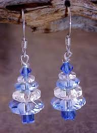 swarovski sapphire blue tree earrings