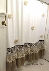 Burlap Shower Curtains Shab Chic Shower Curtains Foter Burlap Shower Curtain Deaft West