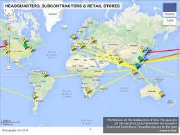 nike map nike distribution system