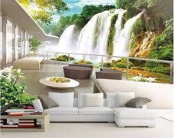 custom mural 3d room wallpaper mountain waterfall scenery home