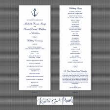 nautical wedding programs nautical wedding programs nautical ceremony programs knots