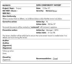 ncr report template ncr report template sle non conformance report template 12