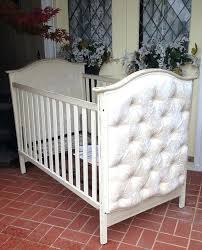 gold 5 in 1 convertible crib with diamond tufted upholstered diy