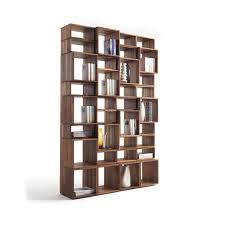 Walnut Corner Bookcase Bookcases 6 Shelf Bookcase Low Wide Bookcase Solid Walnut